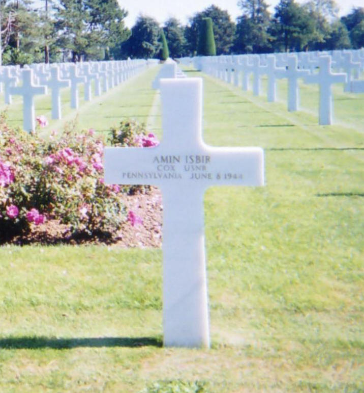 Uncle Amin's Grave Site in Normandy France