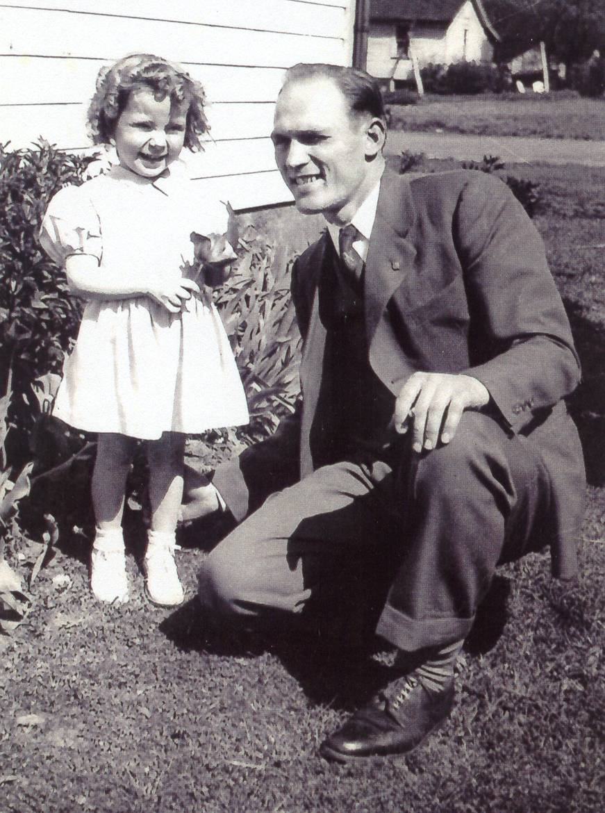Johnny and Baby Darla at Home in 1946